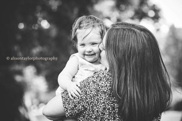 Photo of a mother and her one year old girl during a photo shoot in Bristol