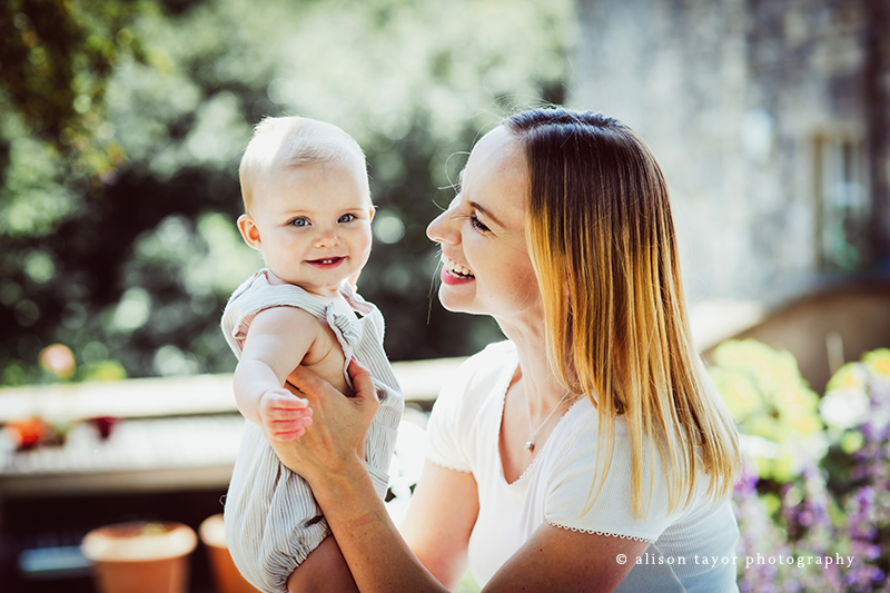 Photo of mother and baby during a photo shoot